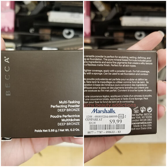 Becca Foundation Perfecting Powder Deep Bronze Cheap Marshalls