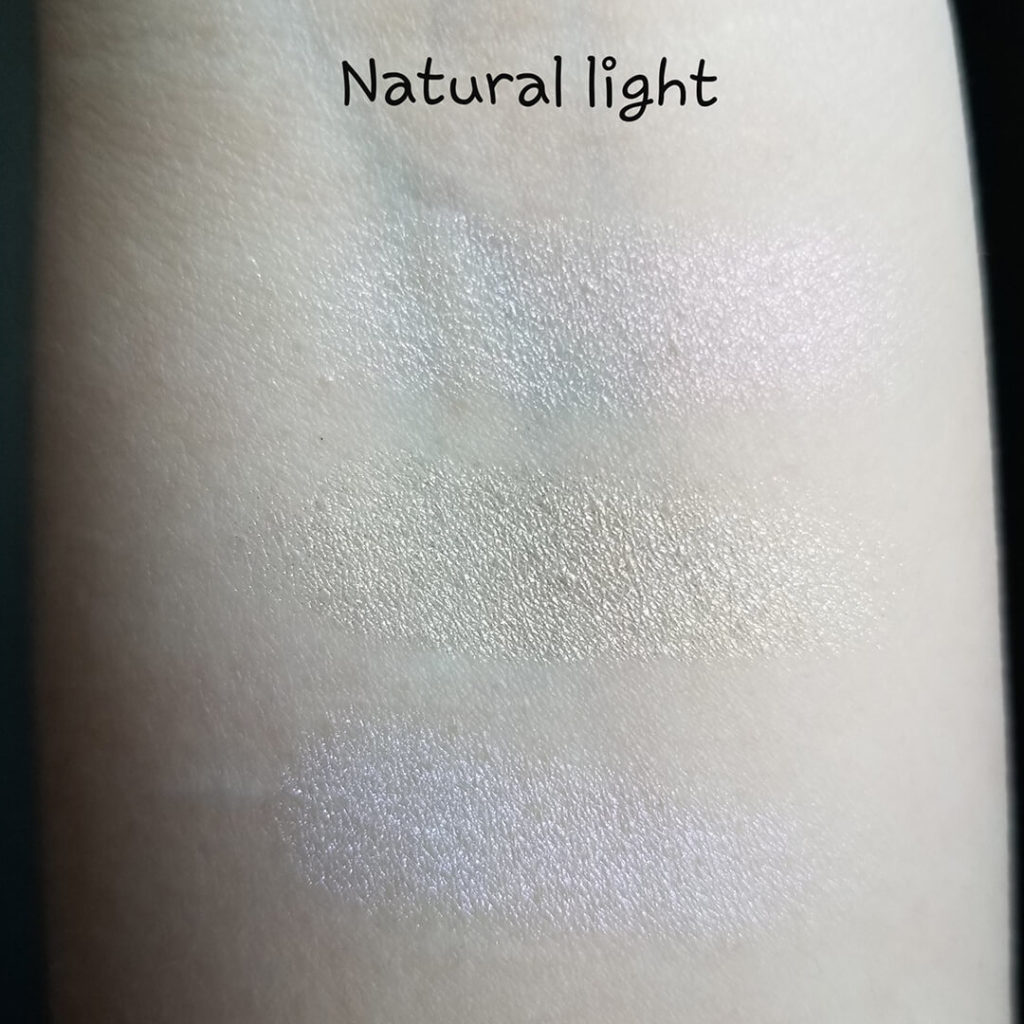 Laura Geller Life Glows On highlighter swatches