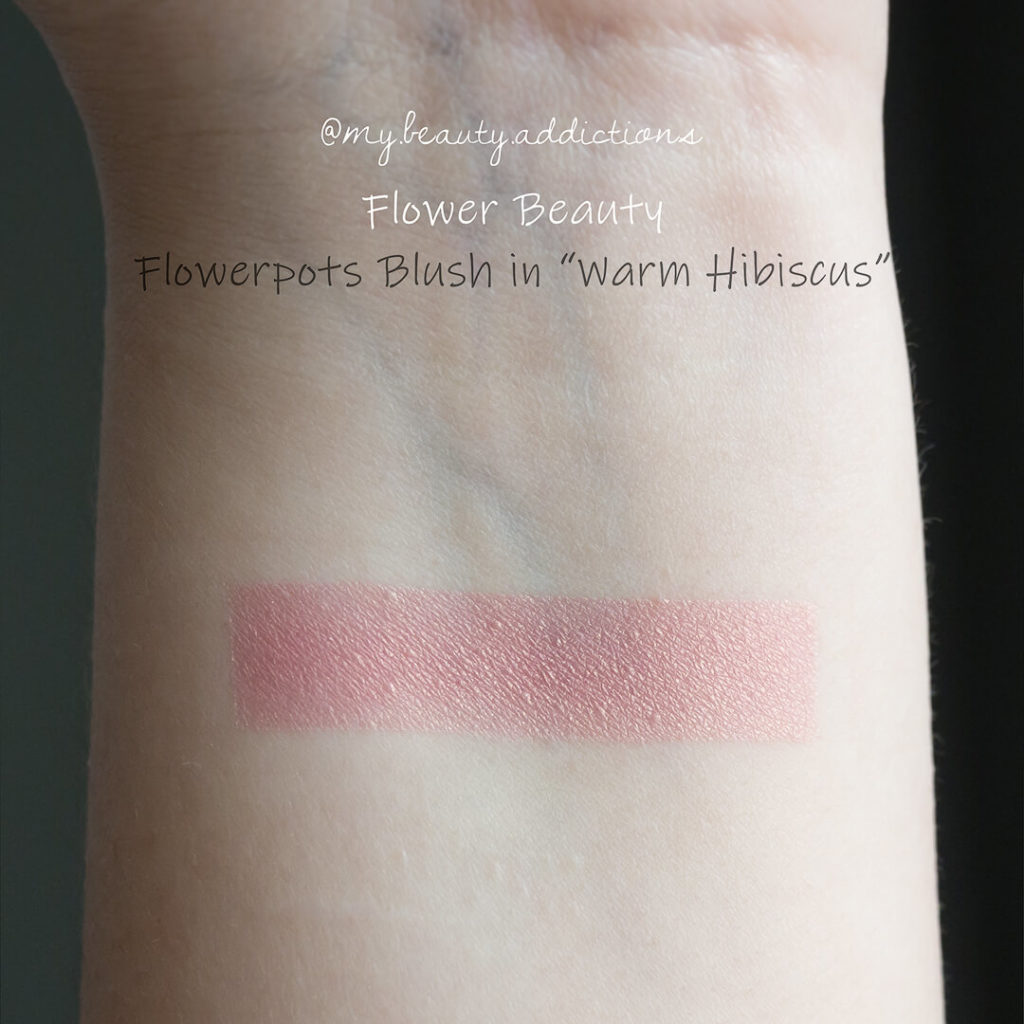 Flower Beauty Flowerpots Powder Blush Warm Hibiscus swatch
