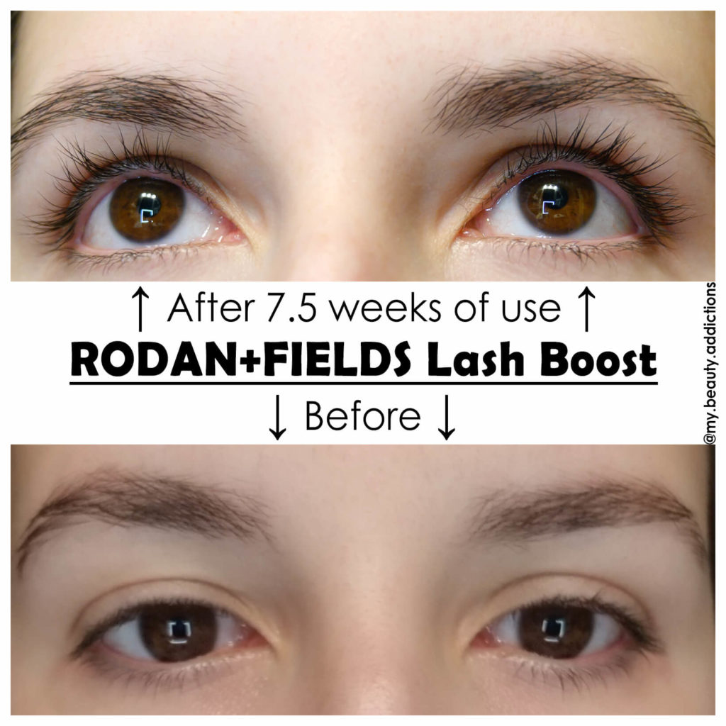 Rodan + Fields Lash Boost review before and after