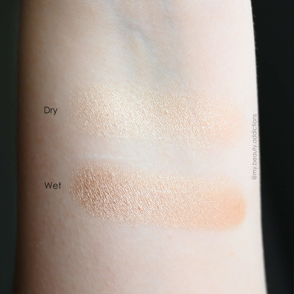 Anastasia ABH Amrezy Highlighter swatches on fair skin