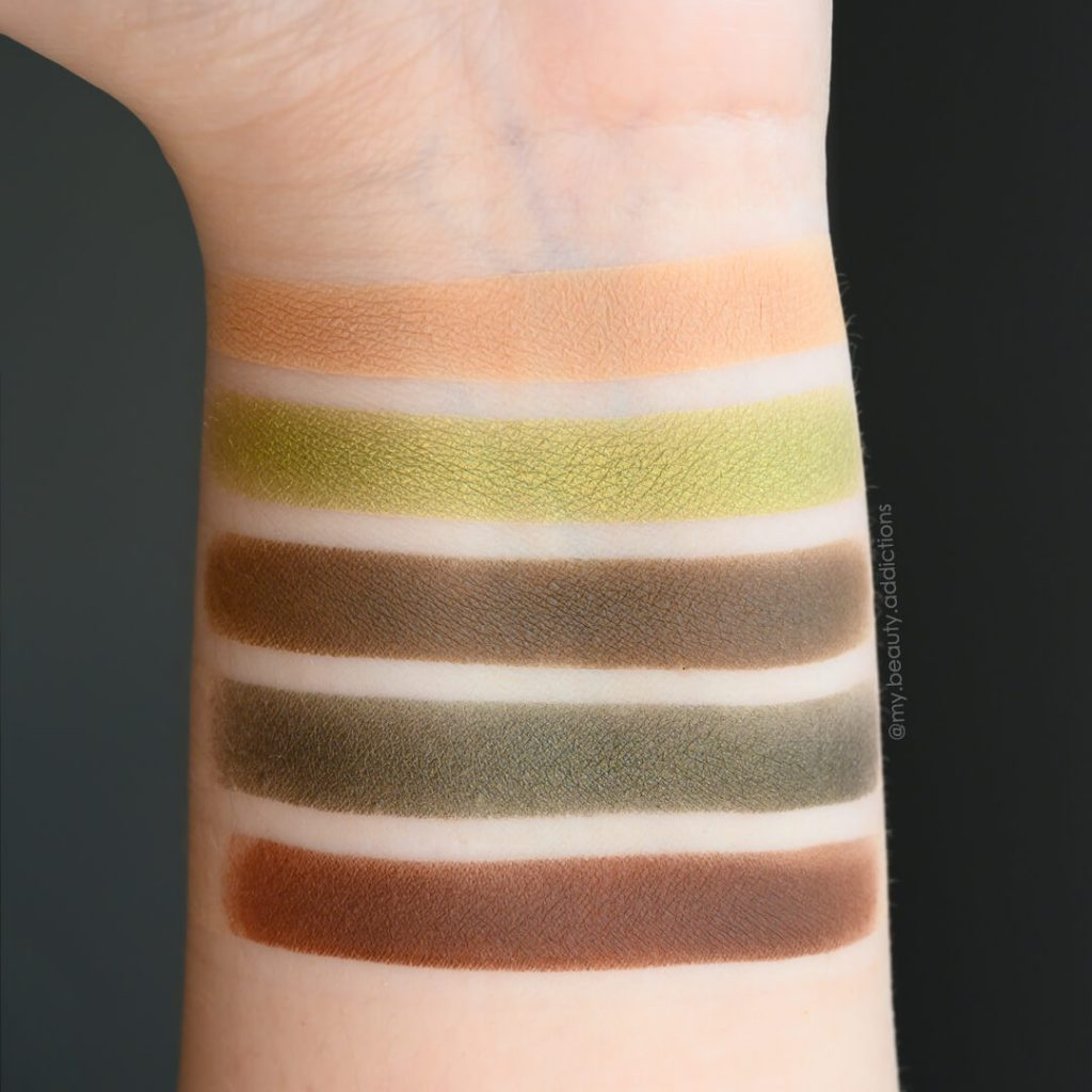 Zoeva Cafe Palette swatches