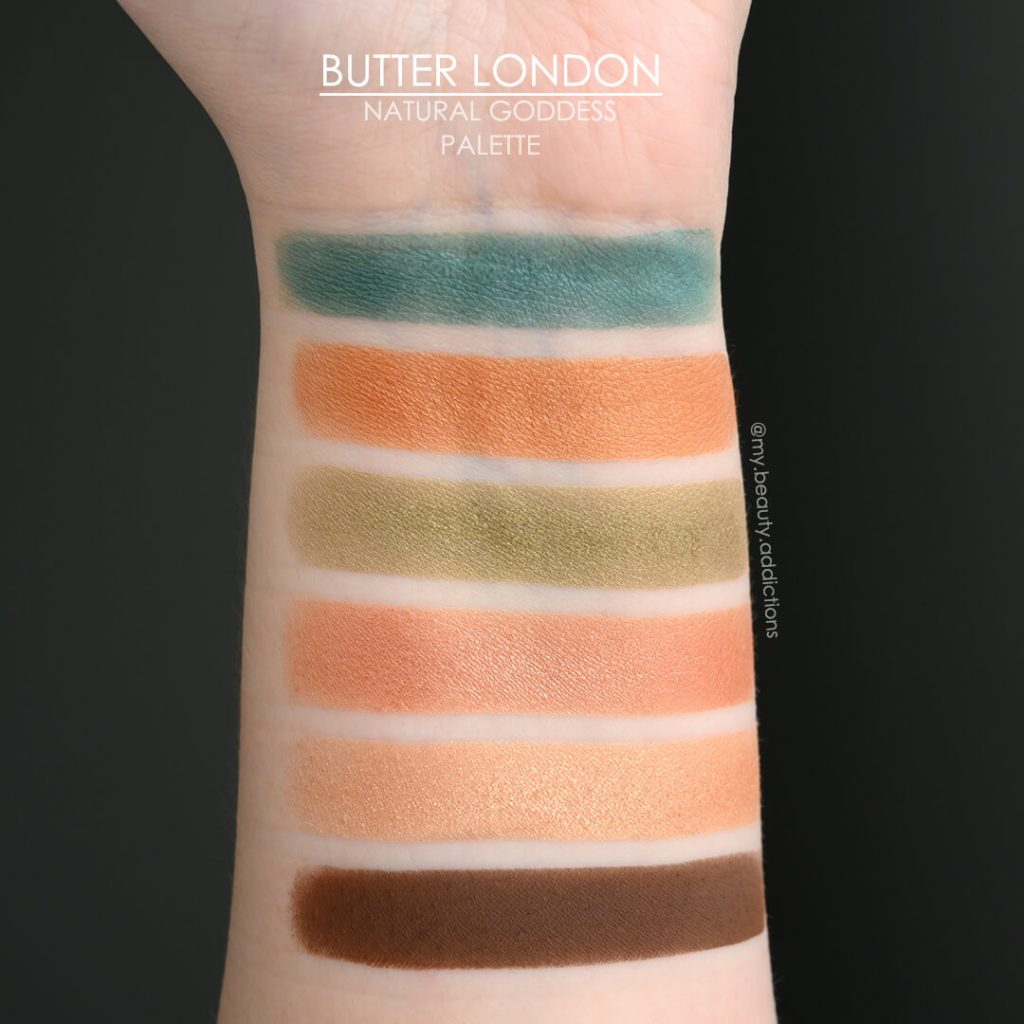 Butter London Natural Goddess swatches