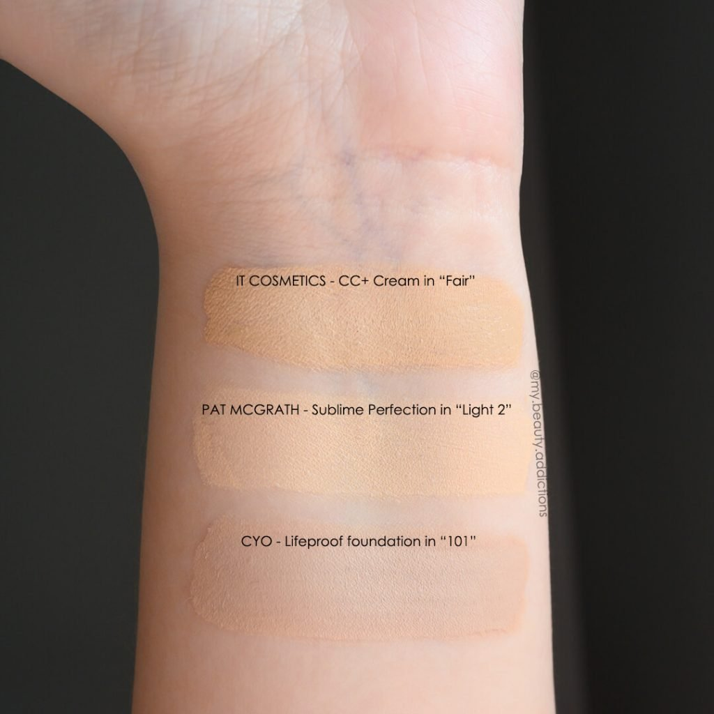 Pat McGrath Foundation swatch Light 2