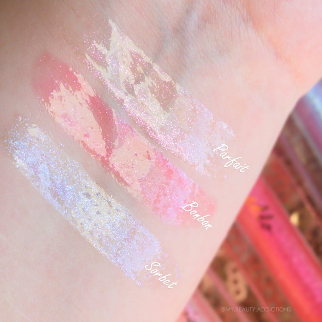 Pixi Lip Icing swatches