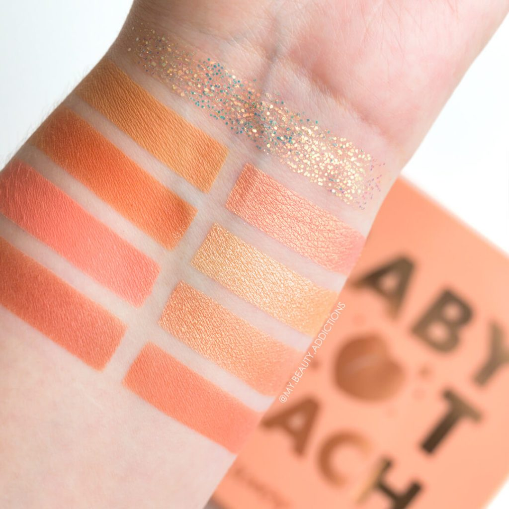 Colourpop Baby Got Peach swatches