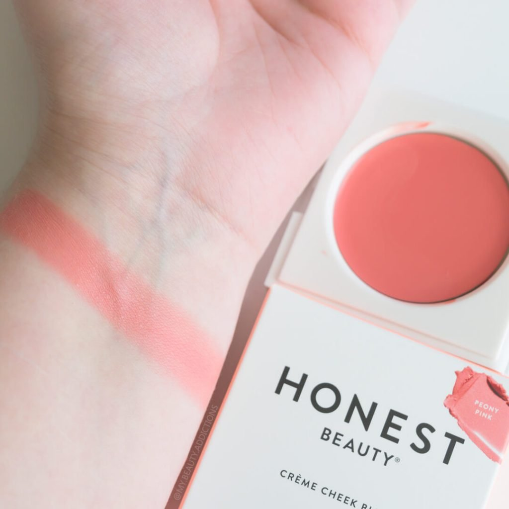 Honest Beauty Blush peony pink swatch